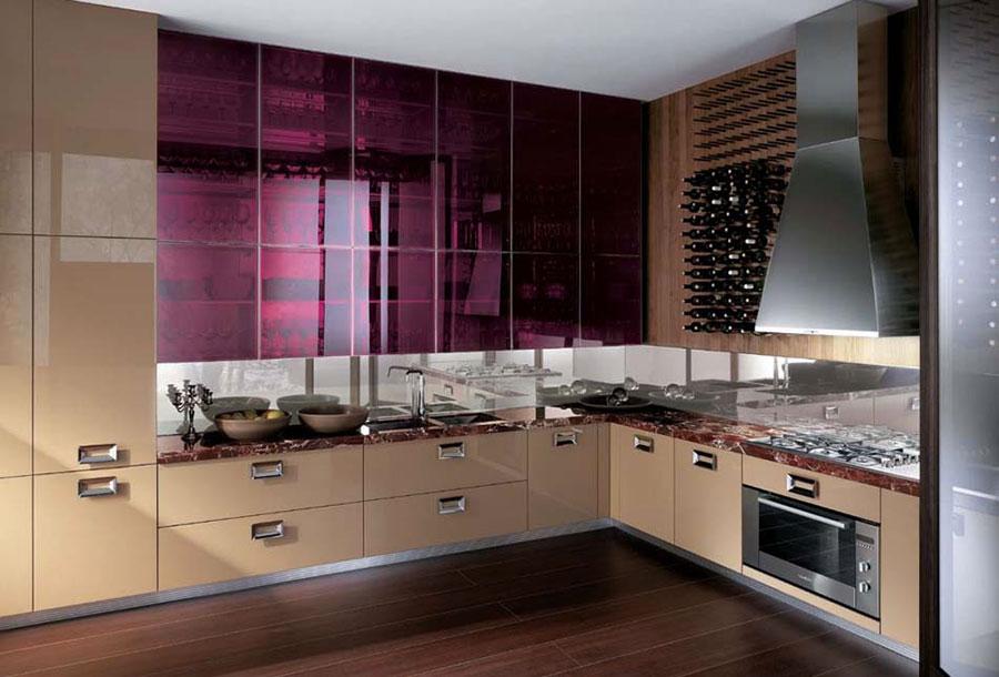 Modello di cucina viola n.13