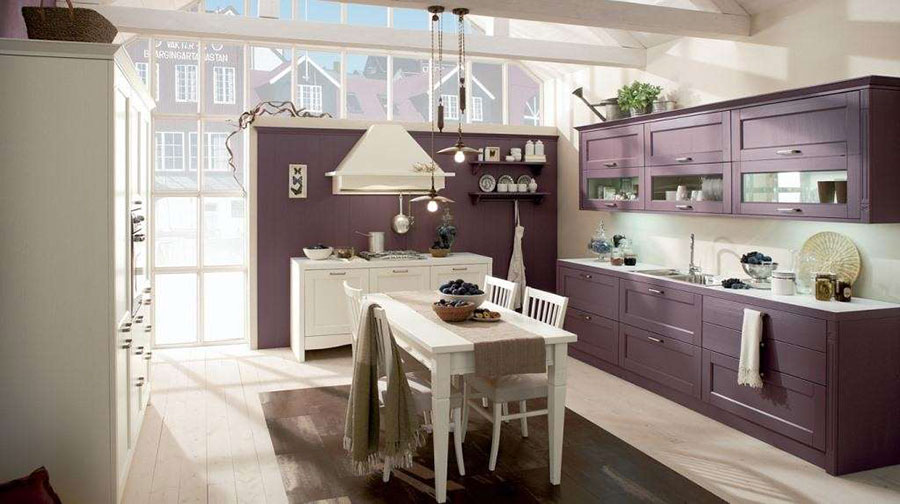 Modello di cucina viola n.17