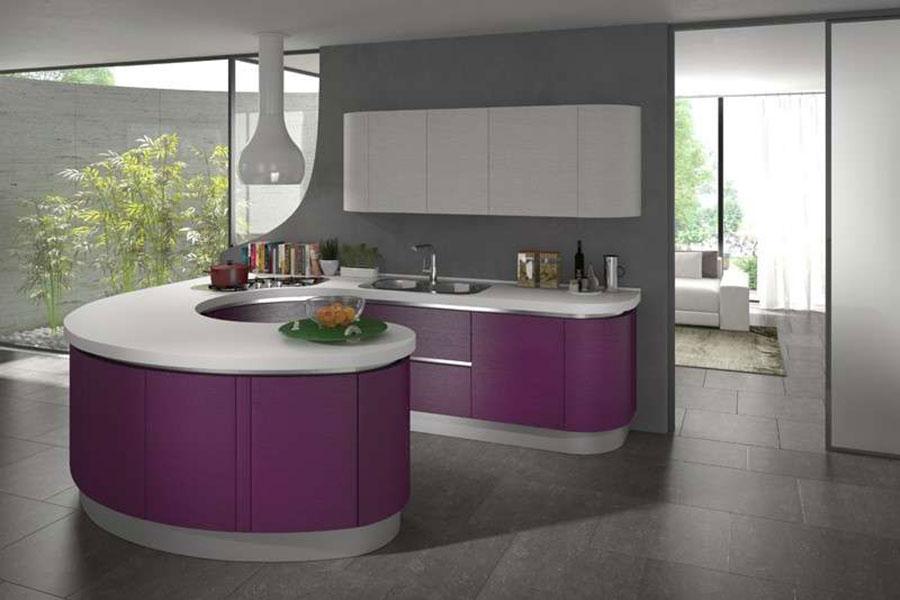 Modello di cucina viola n.18
