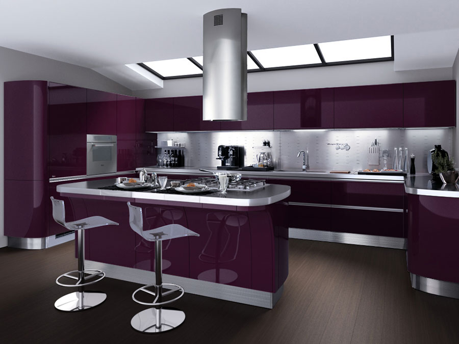 Modello di cucina viola n.20