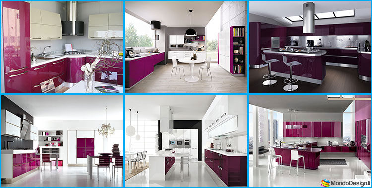 20 modelli di cucine viola delle migliori marche - Cucine migliori ...