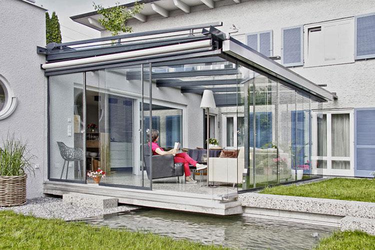 Modello di giardino d'inverno o veranda n.03