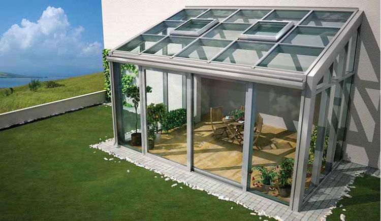 Modello di giardino d'inverno o veranda n.06
