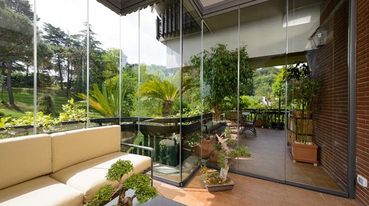 Modello di giardino d'inverno o veranda n.07
