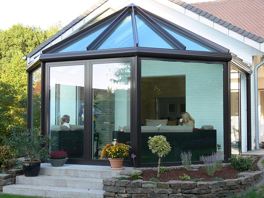 Modello di giardino d'inverno o veranda n.12