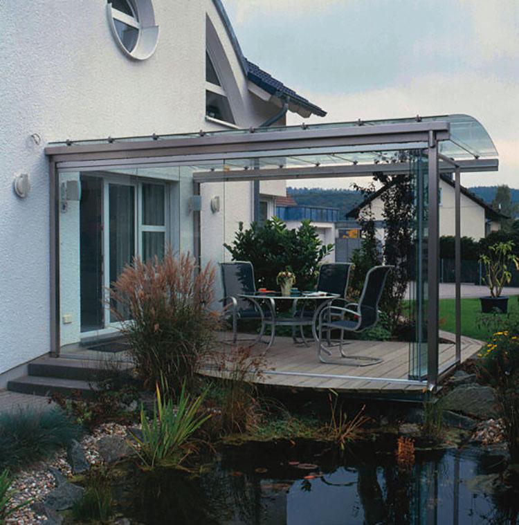 Modello di giardino d'inverno o veranda n.16