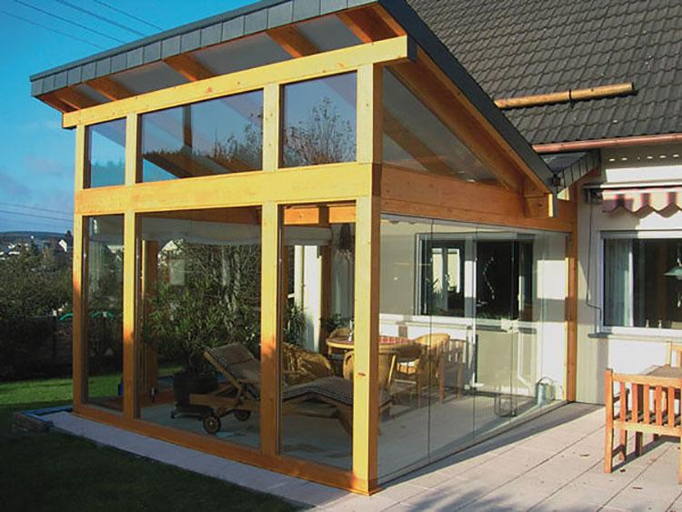 Modello di giardino d'inverno o veranda n.17