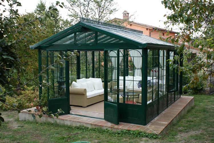 Modello di giardino d'inverno o veranda n.21