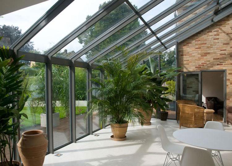 Modello di giardino d'inverno o veranda n.25