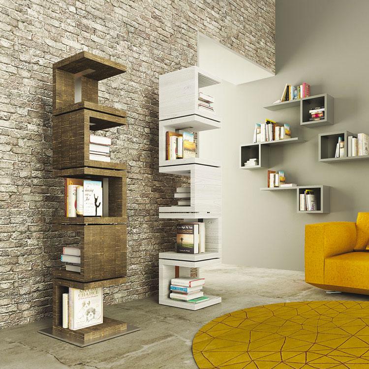 Modello di libreria dal design particolare n.06