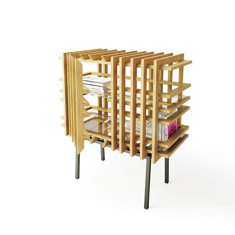 Modello di libreria dal design particolare n.08
