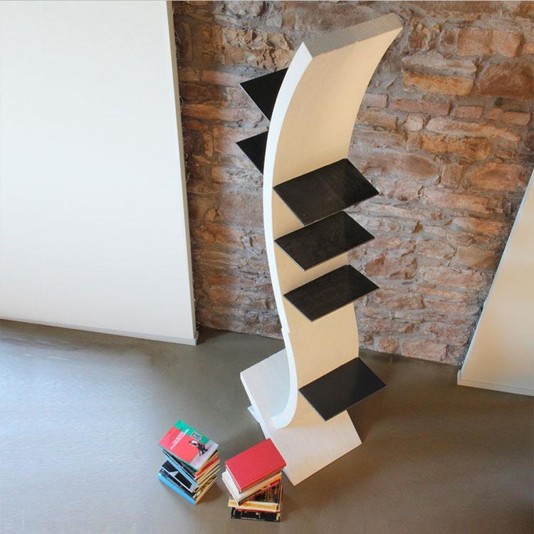 Modello di libreria dal design particolare n.09