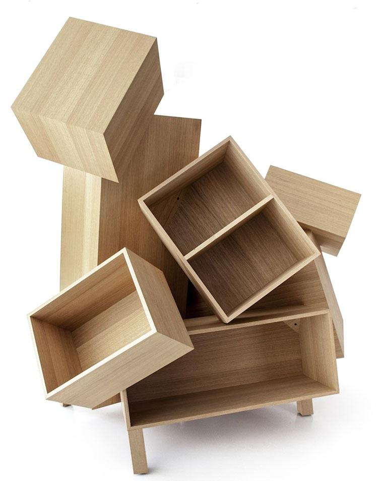 Modello di libreria dal design particolare n.21