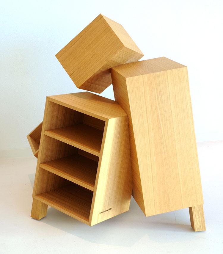 Modello di libreria dal design particolare n.22
