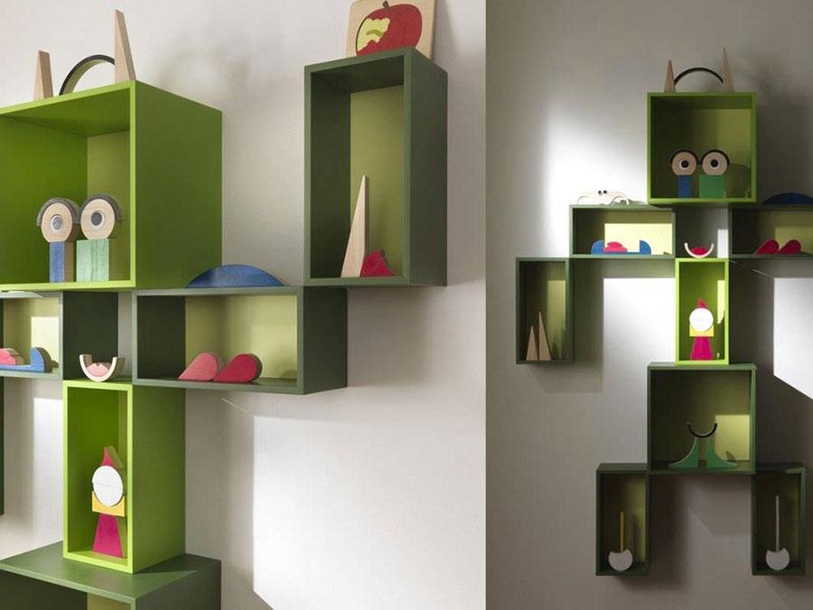 Modello di libreria dal design particolare n.24