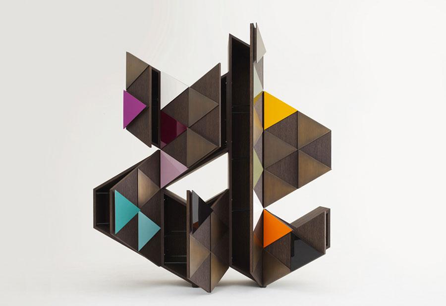 Modello di libreria dal design particolare n.27