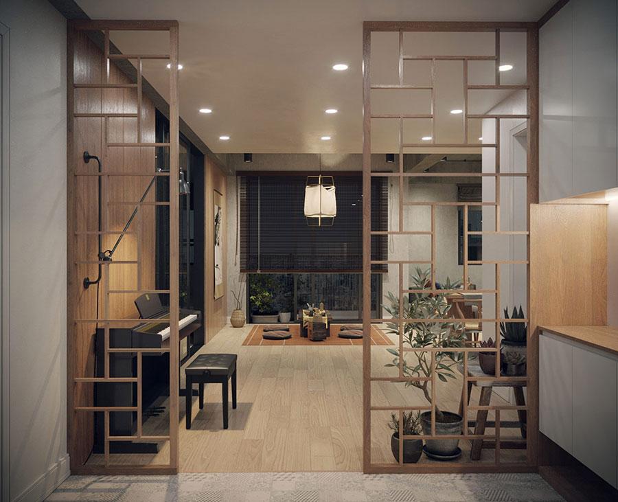 Come arredare un open space in stile giapponese n.06