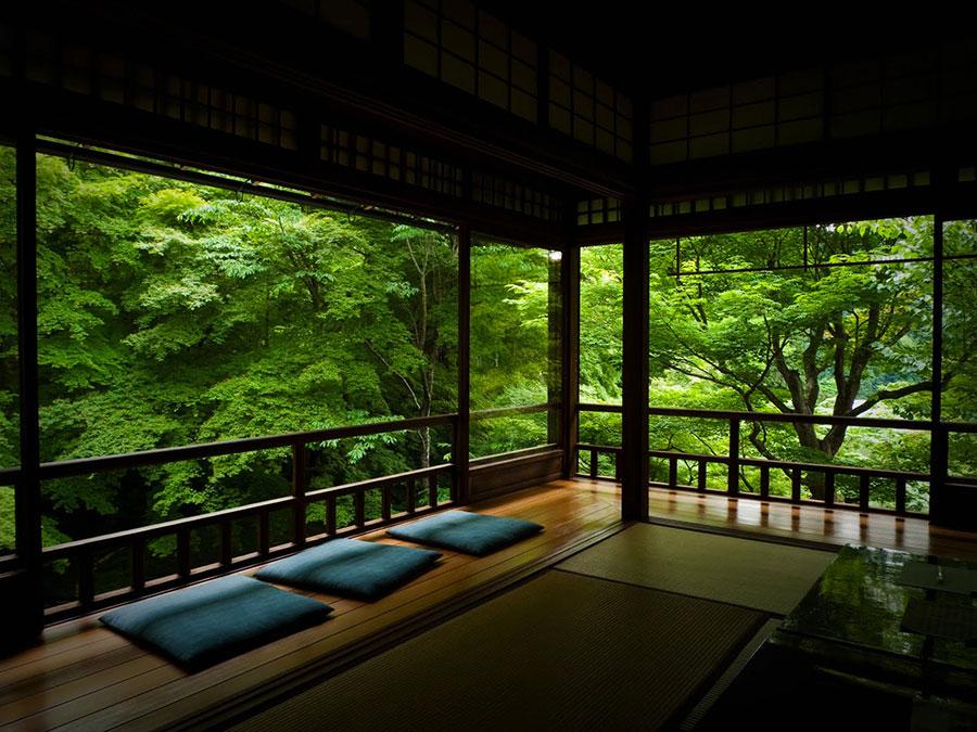 Patio arredato in stile giapponese n.01