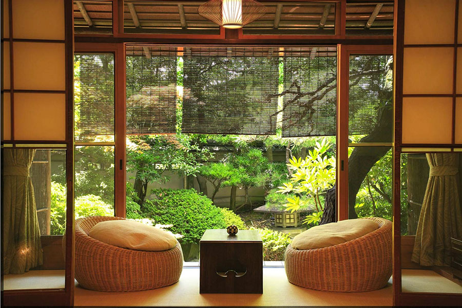 Patio arredato in stile giapponese n.06