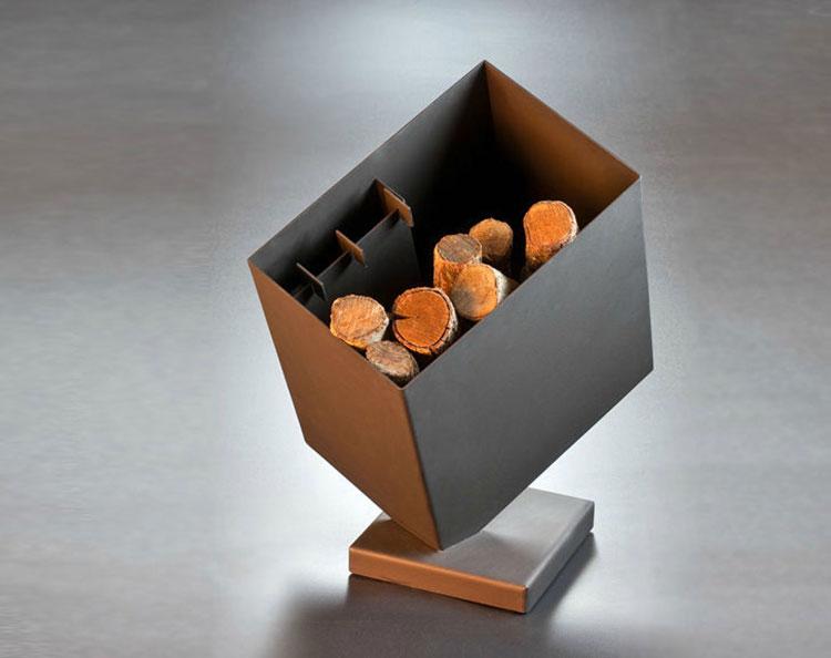 Modello di portalegna da interno dal design moderno n.01