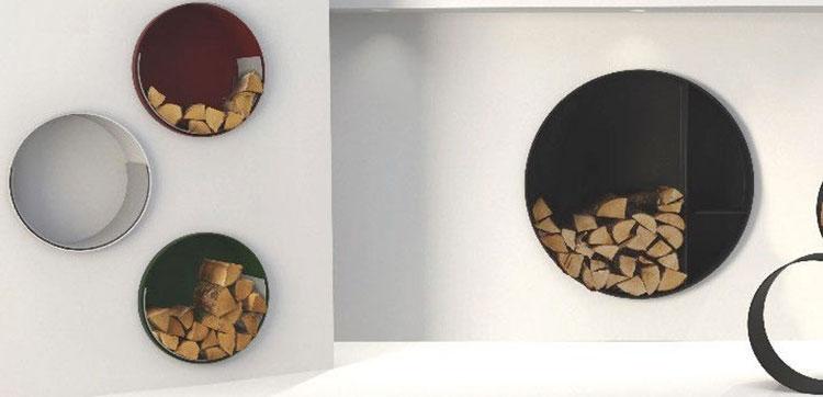 Modello di portalegna da interno dal design moderno n.04