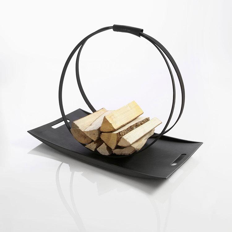 Modello di portalegna da interno dal design moderno n.09
