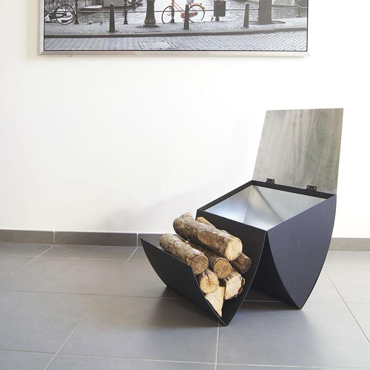 Modello di portalegna da interno dal design moderno n.16