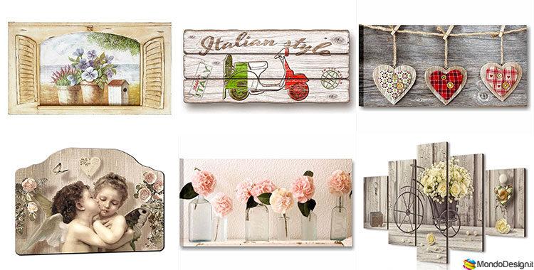 25 quadri shabby chic in vendita online for Vendita on line arredamento design