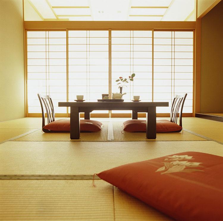 Sala da pranzo arredata in stile giapponese n.04
