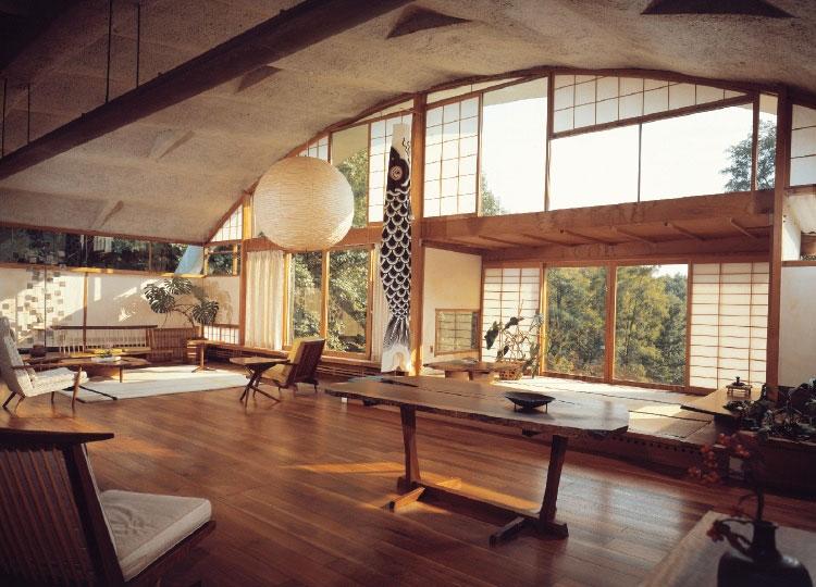 Salotto arredato in stile giapponese n.06