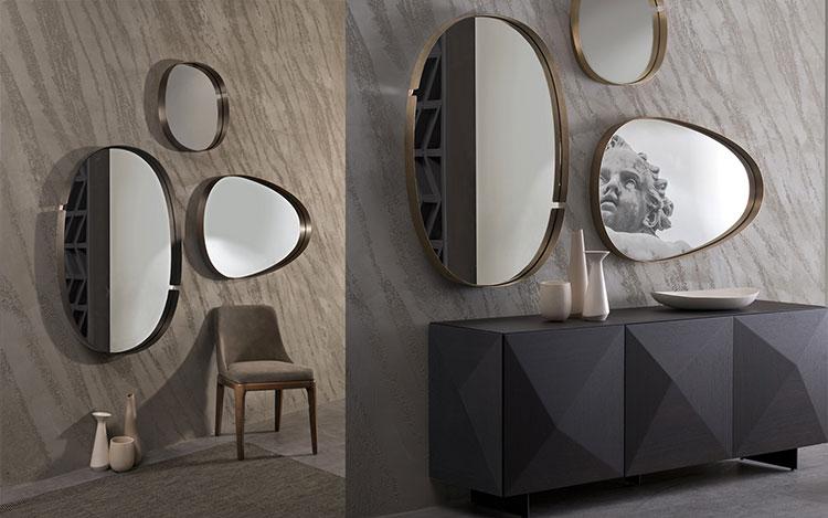 Specchio di design da parete per ingresso n.06