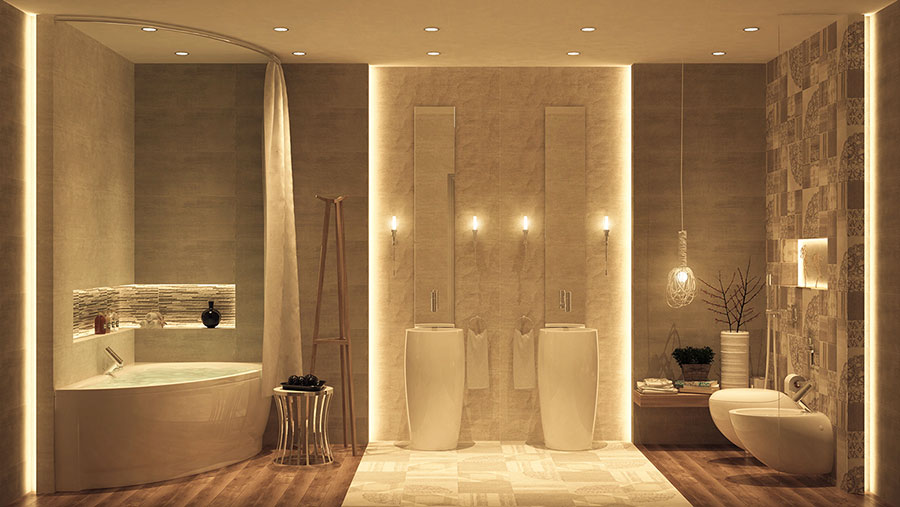 Spettacolari bagni da sogno in stile spa mondodesign