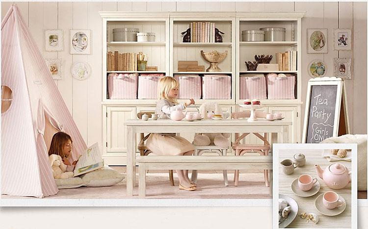 Camerette Chic Per Ragazze : Camerette per bambine in stile country chic ecco idee