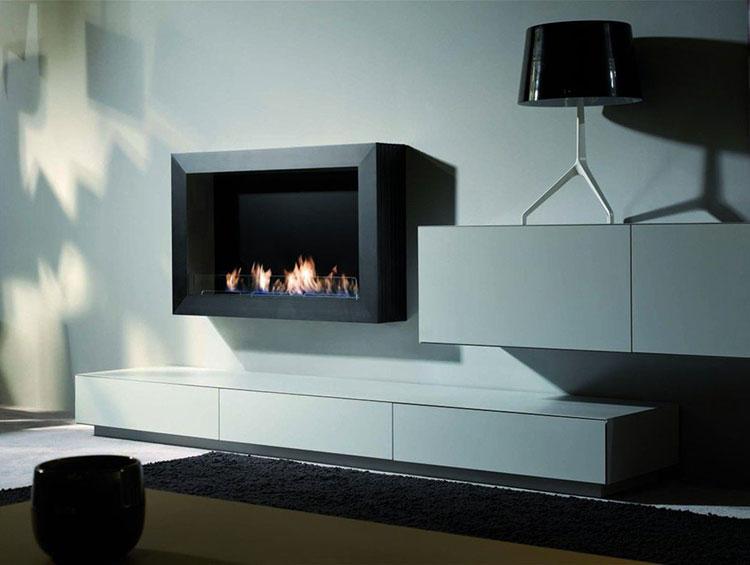 20 modelli di camini a bioetanolo da parete a incasso. Black Bedroom Furniture Sets. Home Design Ideas