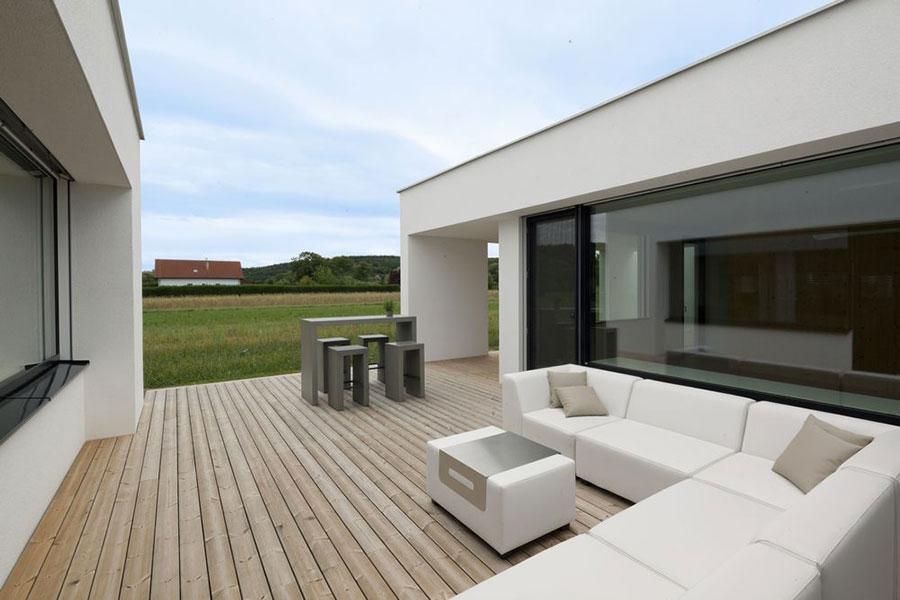 Progetto di casa prefabbrica in legno dal design moderno n.02