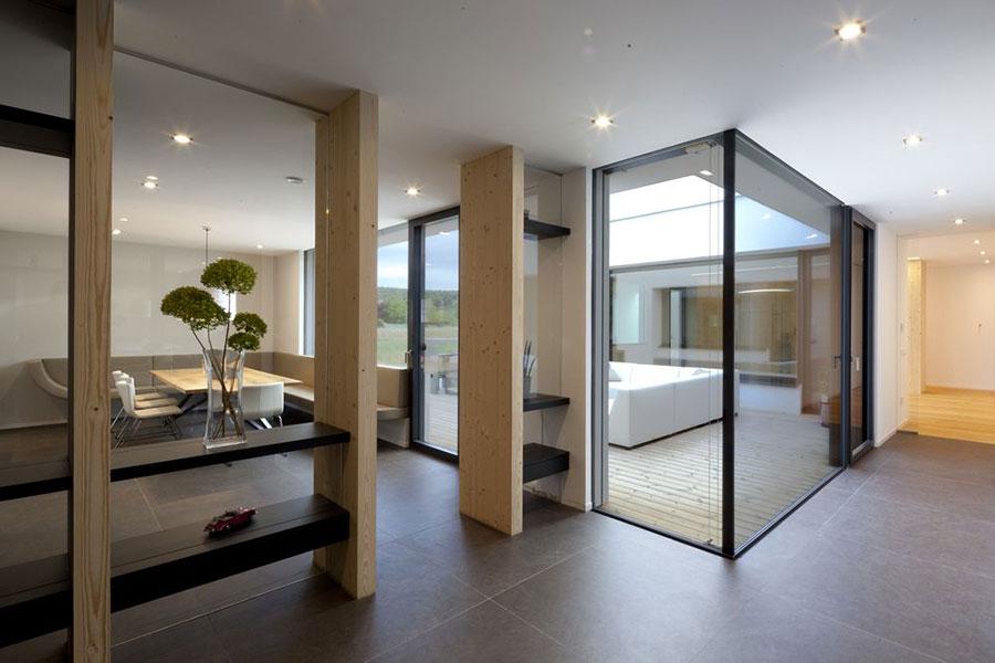 Progetto di casa prefabbrica in legno dal design moderno n.03