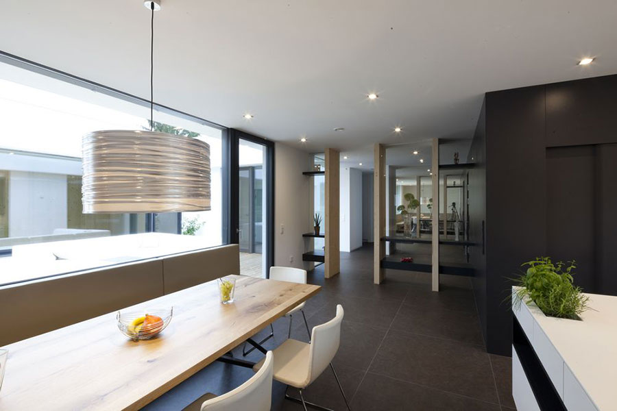 Progetto di casa prefabbrica in legno dal design moderno n.06