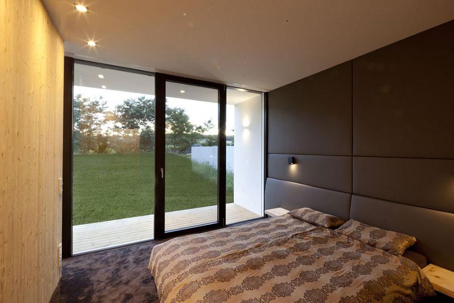 Progetto di casa prefabbrica in legno dal design moderno n.07