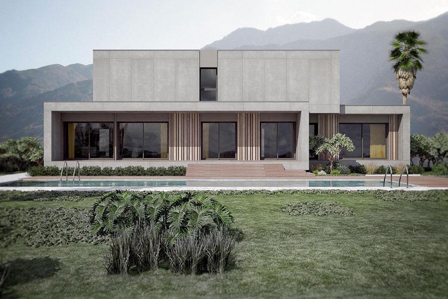 Progetto di casa prefabbrica in legno dal design moderno n.17
