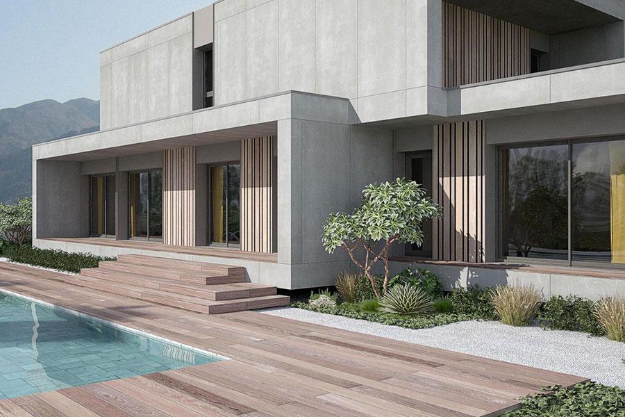 Progetto di casa prefabbrica in legno dal design moderno n.19