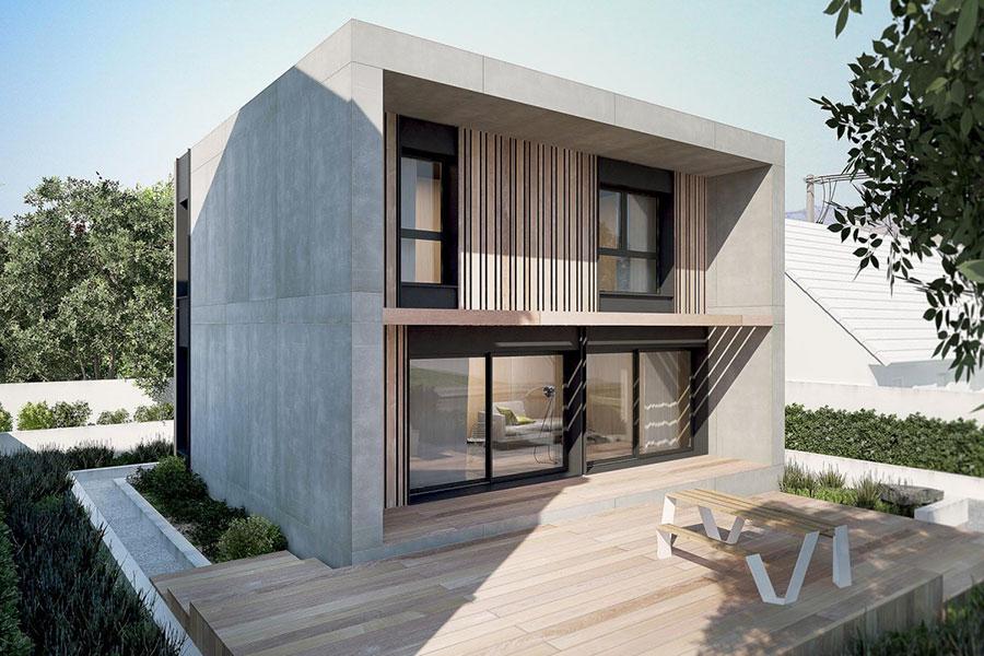 Progetto di casa prefabbrica in legno dal design moderno n.21