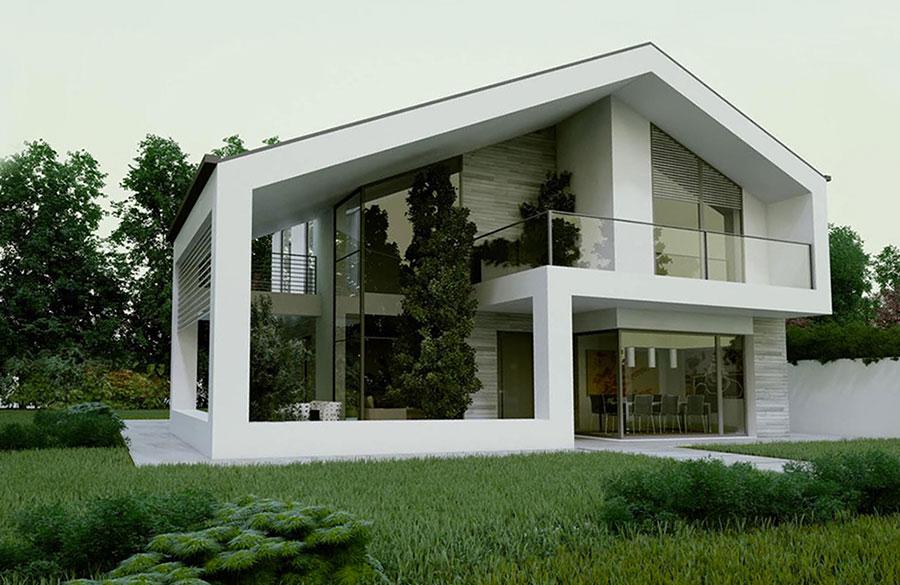 Progetto di casa prefabbrica in legno dal design moderno n.29