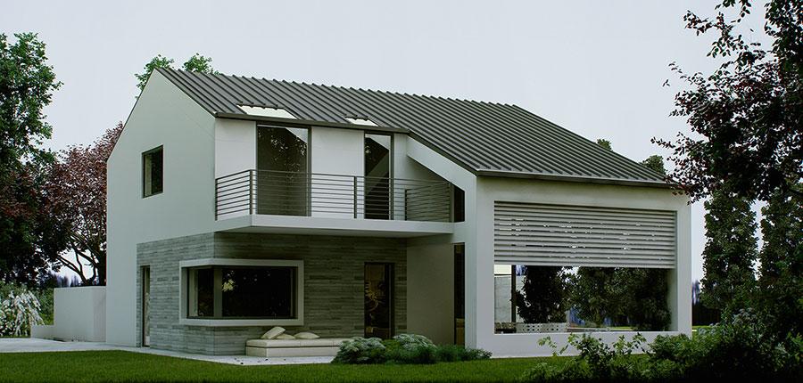 Progetto di casa prefabbrica in legno dal design moderno n.30