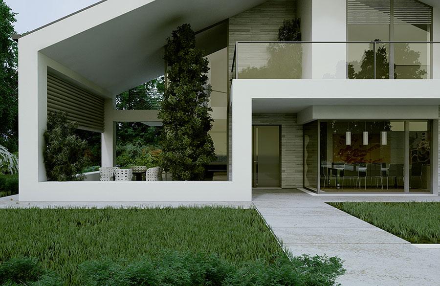 Progetto di casa prefabbrica in legno dal design moderno n.31