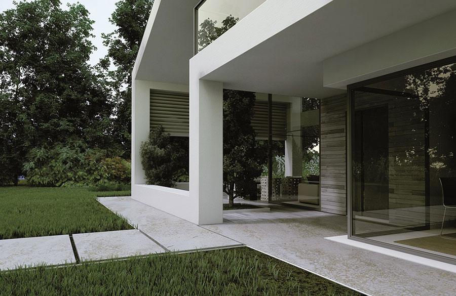 Progetto di casa prefabbrica in legno dal design moderno n.32
