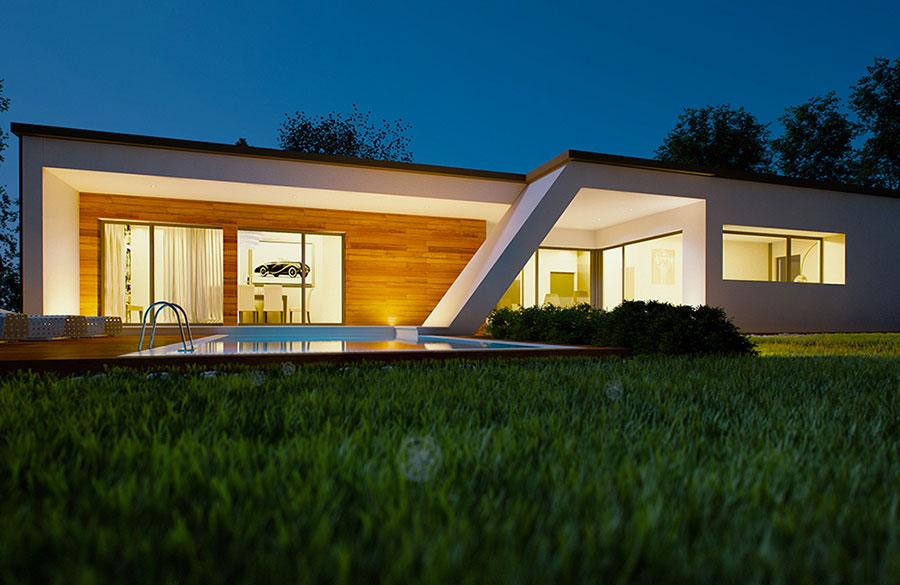 Progetto di casa prefabbrica in legno dal design moderno n.35
