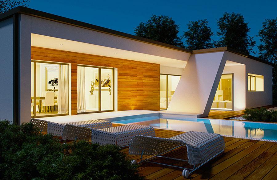 Progetto di casa prefabbrica in legno dal design moderno n.36