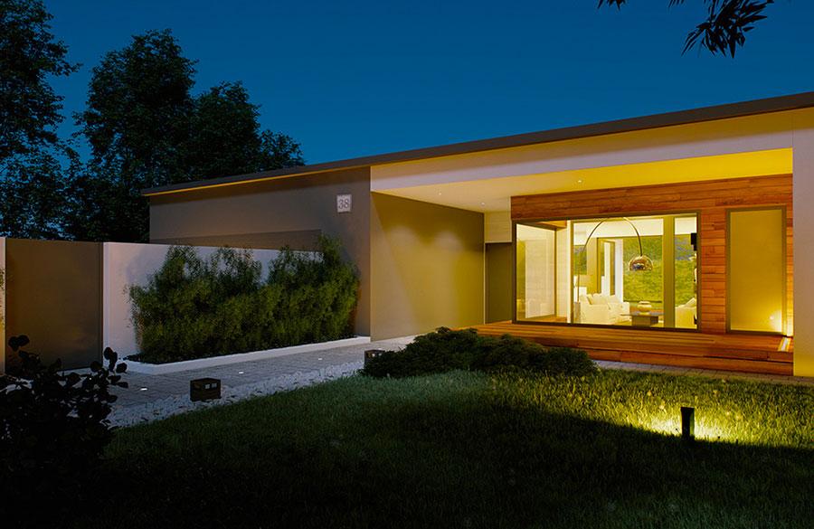 Progetto di casa prefabbrica in legno dal design moderno n.37