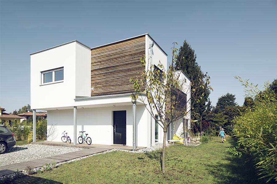 Progetto di casa prefabbrica in legno dal design moderno n.48