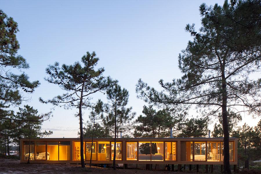 Progetto di casa prefabbrica in legno dal design moderno n.54